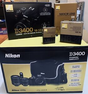 Nikon D3400 DSLR kit package (open box)