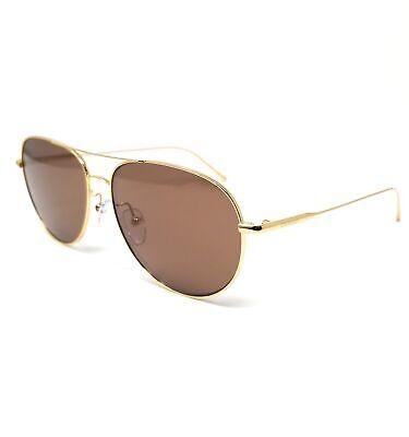CALVIN KLEIN Sunglasses CK2155S 714 Gold Aviator Unisex 57x14x140