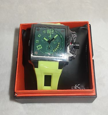 ADEE KAYE MENS WATCH  green DIAL YELLOW BAND  AK7115-M -YELLOW new, used for sale  Shipping to South Africa
