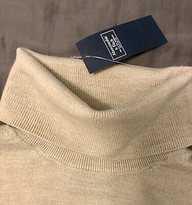 ABERCROMBIE AND FITCH Lightweight Turtleneck Sweater Men's Size M Beige
