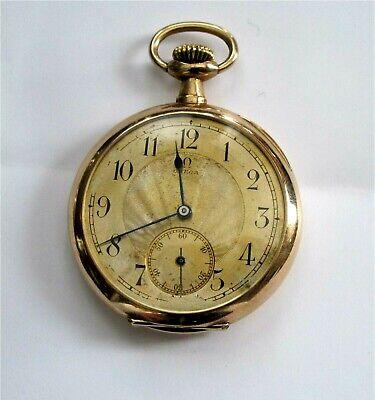 Antique Omega Grand Prix Paris 14K 585 / 56 Gold Pocket Watch WW I Army Working Army Gold Pocket Watch