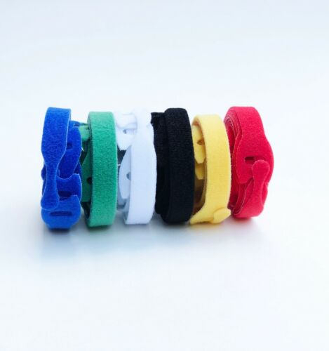"60PCS Reusable Cable Cord Ties Nylon Straps Organizer Wraps 6 Colors 7.75""X0.5"