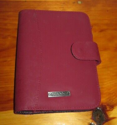 Franklin Covey 1 Red Floral Harmony Day Runner Planner Binder 7 Ring Euc