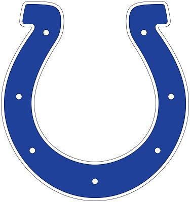 Nfl Indianapolis Colts Decal -  Indianapolis Colts Horseshoe NFL Color Die Cut Vinyl Decal cornhole car new