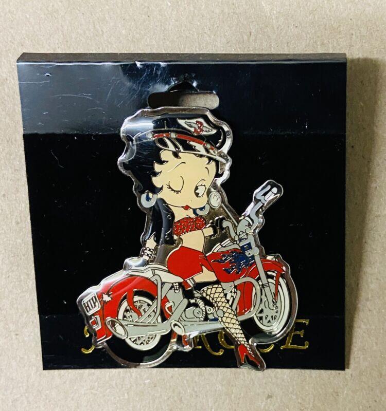 Biker Betty Boop Lapel Hat Pin by NJ Croce New on Card