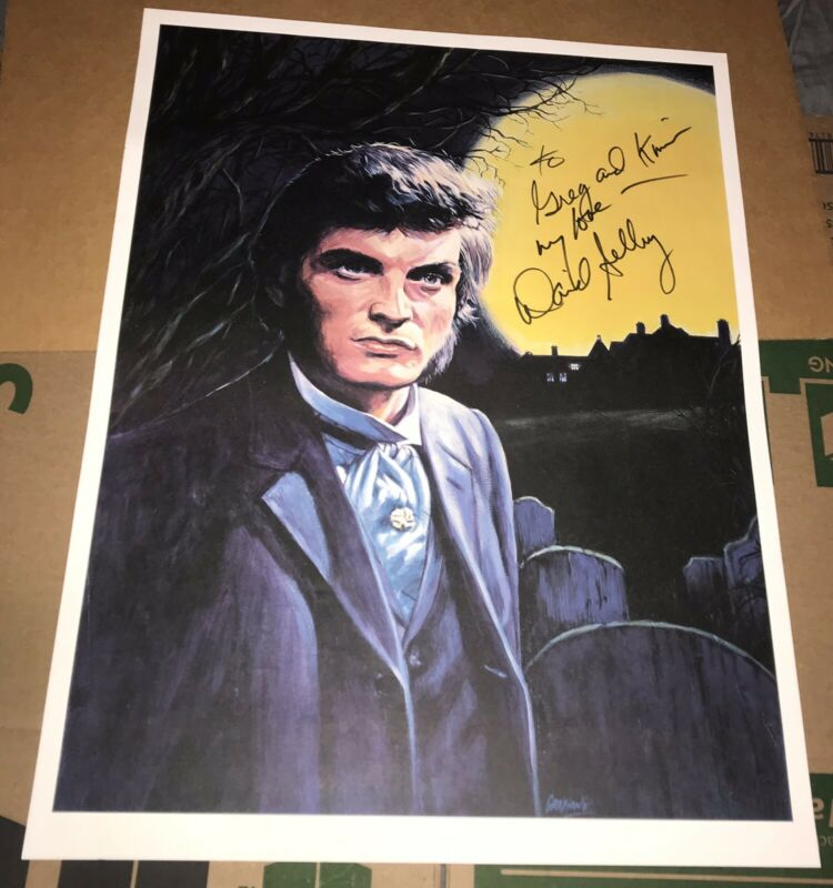 "Original DARK SHADOWS 18x24"" Poster SIGNED BY DAVID SELBY Quinton Collins"