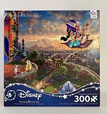 NEW/SEALED-Thomas Kinkade-Disney-ALADDIN/JASMINE-Puzzle-300 Pieces