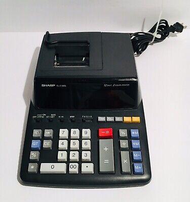 Sharp EL-2196BL Electronic Calculator 12 Digit 2 Color Printer Accounting 120V