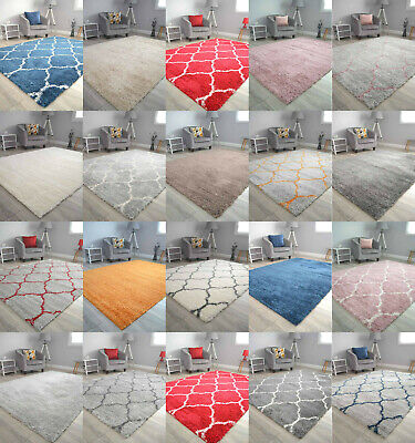 Thick Super Soft Shaggy Living Room Rug Bedroom Floor Rugs Small And Large Sizes