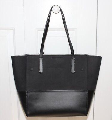 NWT MICHAEL KORS Large EW Eleanor Black Leather Tote Handbag # 31H6PELT3K ~$990