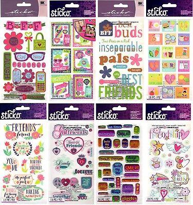 U CHOOSE Sticko Stickers BEST FRIENDS PALS FRIENDSHIP GIRLS BFF