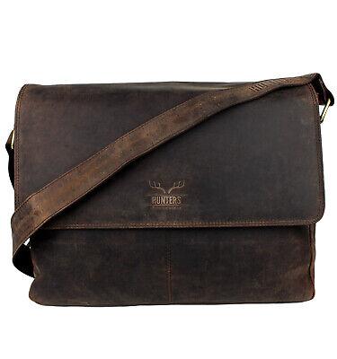 Schompi Herren Leder Messenger Laptop Tasche Aktentasche Braun Tan Umhängetasche Messenger-laptop-tasche