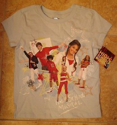 NWT Disney Store High School Musical blue short sleeve shirt tee   XS - 6 (High School Musical Short)