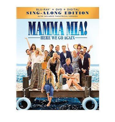 MAMMA MIA! : HERE WE GO AGAIN  (Blu-ray/DVD, 2018, Digital HD Copy)