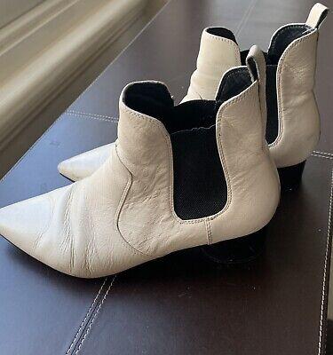 Kendall Kylie Black Platform Boots 39.5 Real Leather High Designer Zip Back Sold