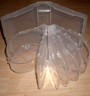 DVD Hüllen Case Cases 12fach 12er Hülle durchsichtig erweiterbar auf 18 DVDs Neu