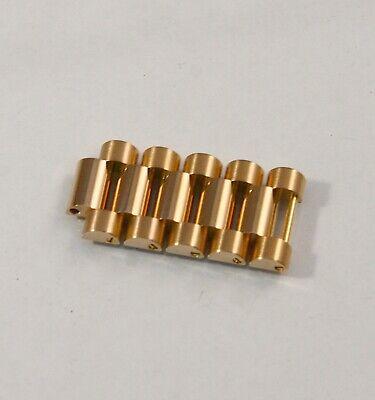 (5) Rolex President 18k Rose Gold New Style Band Bracelet Link 17mm