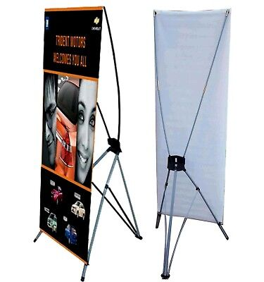 Large Banner X Stand 31 X 71 Bag Trade Show Display Advertising Weather Proof