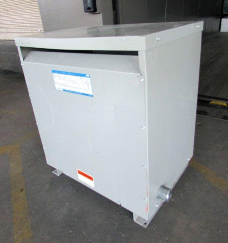 GE General Electric 75 KVA Type 9T23B3874 3-Phase 480V 208/120 Transformer
