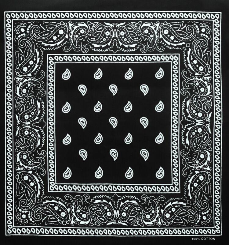 Black Bandana U.S. Shipping 100% Cotton Face Cover Mask