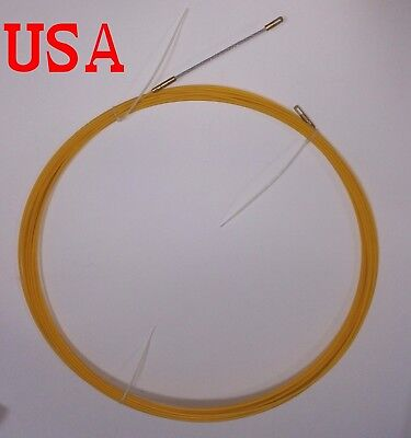 Fish Tape Wire Cable Puller Electricians Reel Tape Fiberglass Duct Rodder 30m