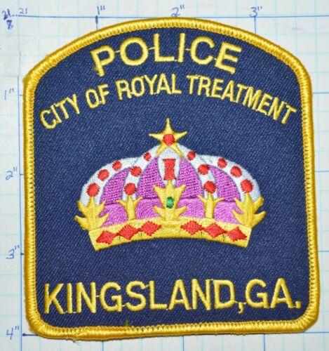 GEORGIA, KINGSLAND POLICE DEPT PATCH