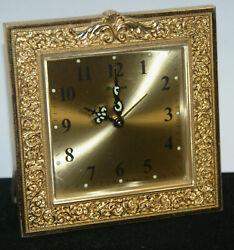 Bulova Vintage Picture Frame Desk Alarm Clock