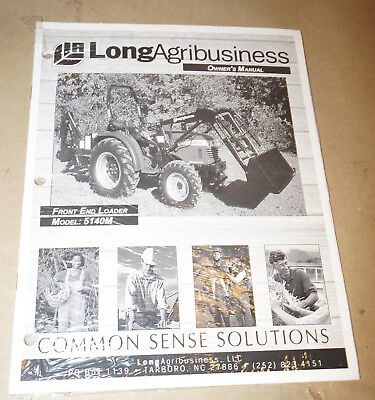 Farm Trac Front End Loader 5140m Owners Manual Pn 751413