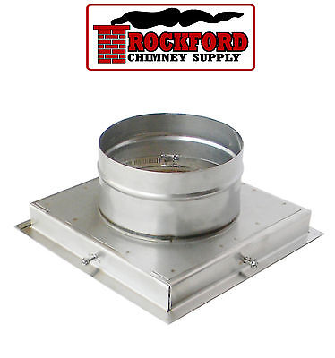 Top Plate for 6 in. Flex Chimney Liner - Clay Flue Tile Mount Stainless Steel ()