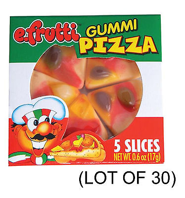 (LOT OF 30) Gummi Gummy PIZZA Candy - Great Halloween Candy - Gummy Pizza