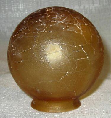 "Frankart 3"" Dia. 1-1/2"" fitter lamp globe 1920's art deco frosted amber glass"