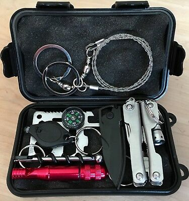Survival Kit Outdoor Adventures Camping Hiking Backpacking Emergency Tools Gear
