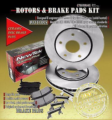 [Front Kit] Rotors & Ceramic Brake Pads W/ Hardware Fits 97-02 Cadillac SeVille Cadillac Seville Brake Pads