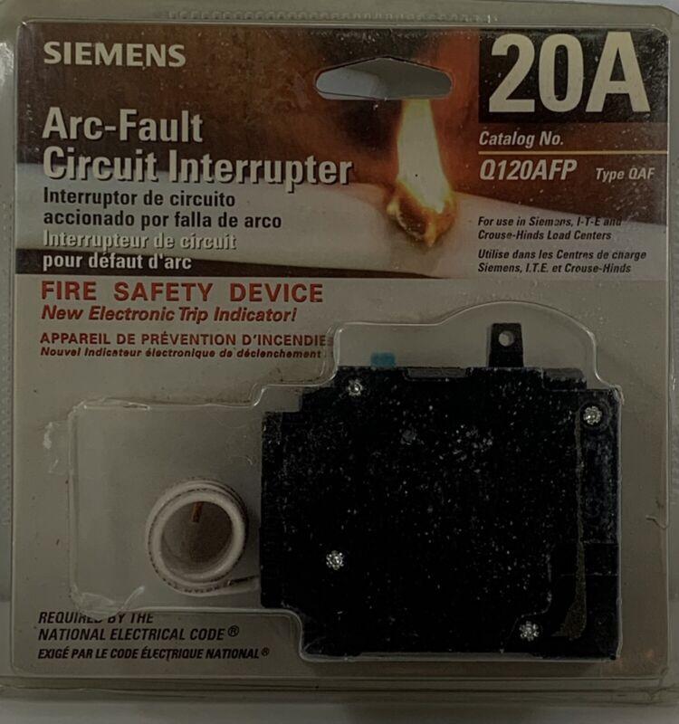 Siemens Q120AFP 20AMP 1 Pole 120 Volt Arc Fault Circuit Breaker AFCI Fire Safety