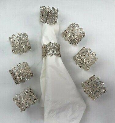 Antique Webster Co 925 Sterling Silver Floral Design Napkin Ring Holder