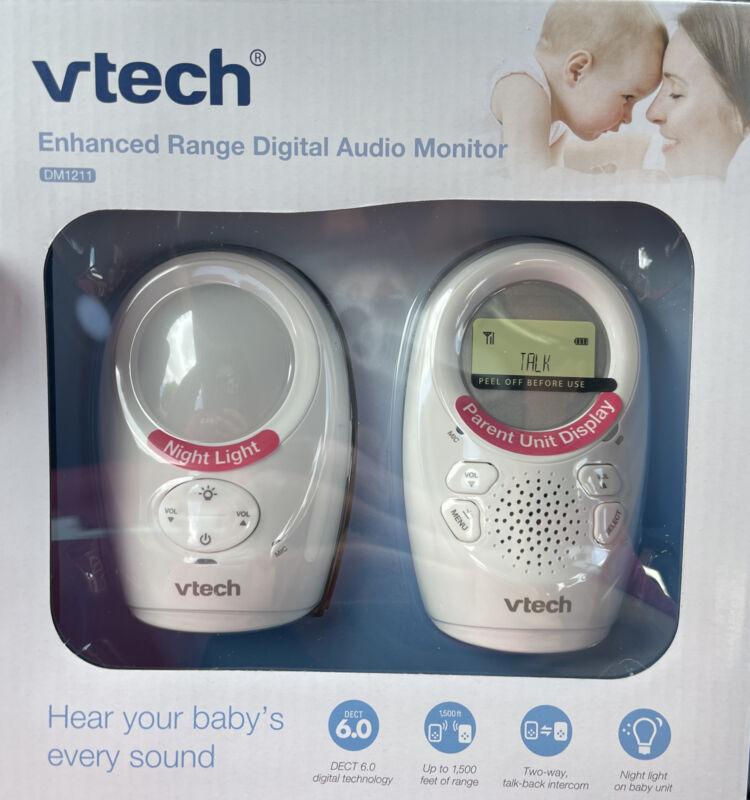 VTech DM1211 Enhanced Range Digital Audio Baby Monitor New