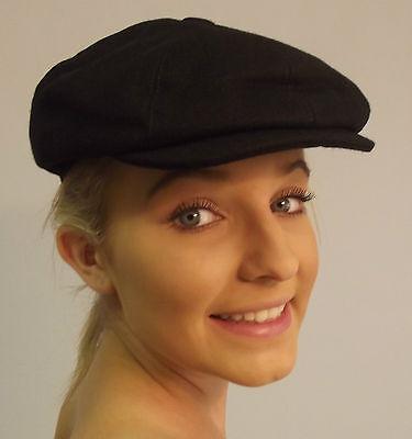 Brand Classic Gatsby Baker Boy Peaked Sectioned Hat Flat Cap Black S M L Xl