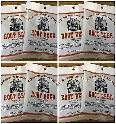 Claeys Root Beer Old Fashioned Hard Candy 8 PACK 6oz Bags FREE - Old Fashioned Root Beer