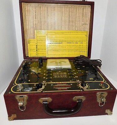 Vintage Rare Television Tube Tester Model Tv-20 American Scientific Dev. Co Case