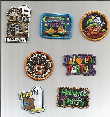 Girl/Boy Scout/Guides Patch/Crest/Badge HALLOWEEN TRICK OR TREAT.. (your choice) - Scout Halloween Crafts
