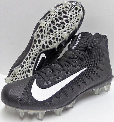 best website d86b2 252ec New Men Nike Alpha Menace Pro MID Football Cleats Black White SIZE 11  RAIDERS