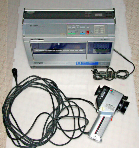 Sharp VC-363 My Video Portable VHS VCR with QC-54 Camera WORKING see video demo