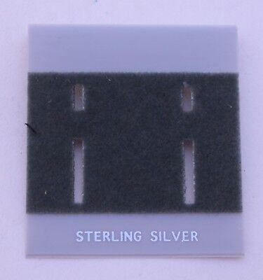 100ct Lot Sterling Silver Grey Plastic Holder Hanging Earring Display Card