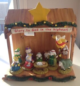 Really Woolly Pageant Nativity w/ Stable Christmas Dayspring