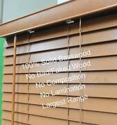 New 50mm basswood timber blind 89cm(W)x120cm(D);  Colour: G. Oak Acacia Ridge Brisbane South West Preview