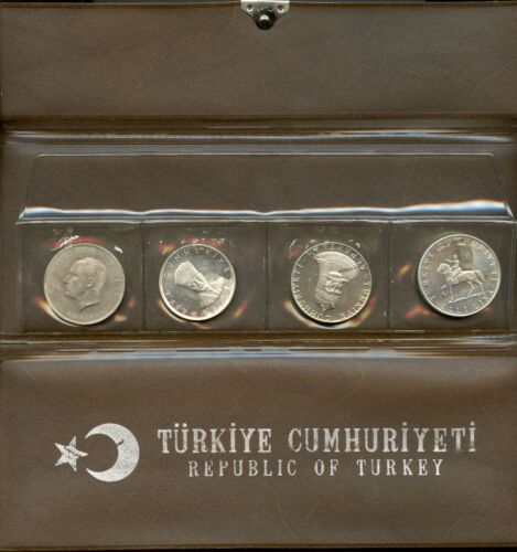 Republic of Turkey 1960 - 1972 Coin Set - Silver Proof Collection Turkish SZ018