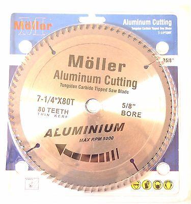 """7-1/4"""" x 80T Aluminum Cutting Circular Saw TCT Blade"""