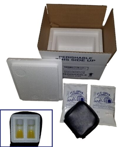 4 Test Yolk Buffer TYB Vials Donor Insulated Shipping Box TenderNeeds Fertility