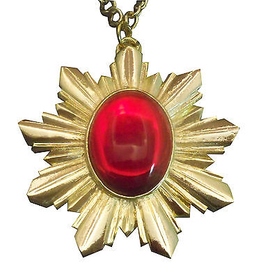 Medieval Renaissance Medallion Necklace Gold Finish Extra Large NK-440GLC ()