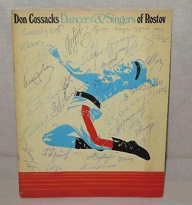 Don Cossacks Dancer & Singers of Rostov Signed Program 1976
